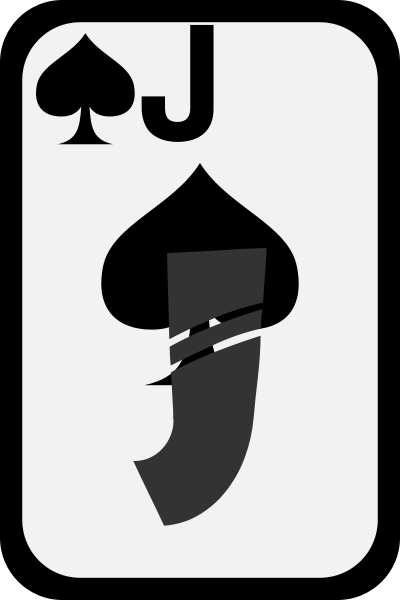 Jack Of Spades Clipart png free, Jack Of Spades transparent png