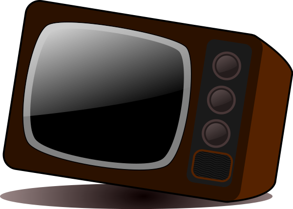Old Television Clipart png free, Old Television transparent png