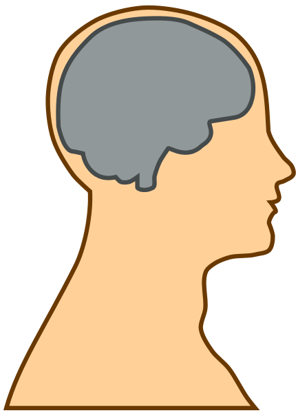 Silhouette Of A Brain Clipart png free, Silhouette Of A Brain transparent png