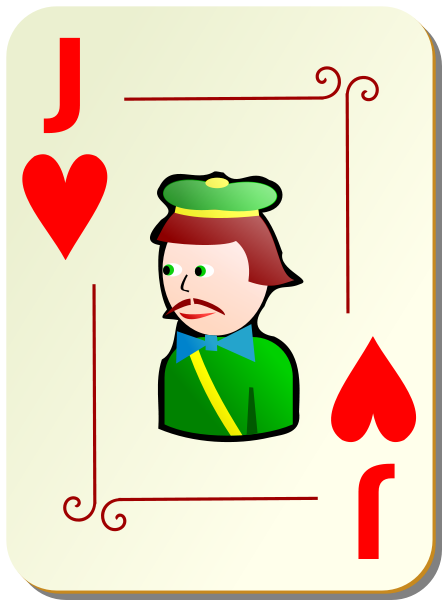 Ornamental Deck: Jack Of Hearts Clipart png free, Ornamental Deck: Jack Of Hearts transparent png