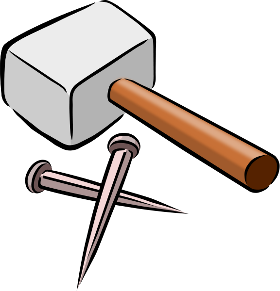 Hammer And Nails Clipart png free, Hammer And Nails transparent png
