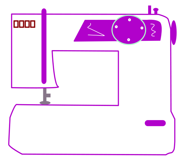 Sewing Machine Clipart png free, Sewing Machine transparent png