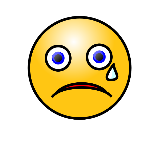 Emoticons: Crying Face Clipart png free, Emoticons: Crying Face transparent png