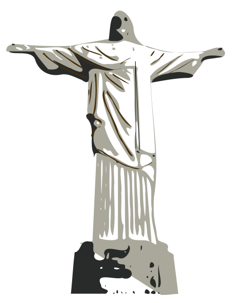 Christ The Redeemer Statue Clipart png free, Christ The Redeemer Statue transparent png