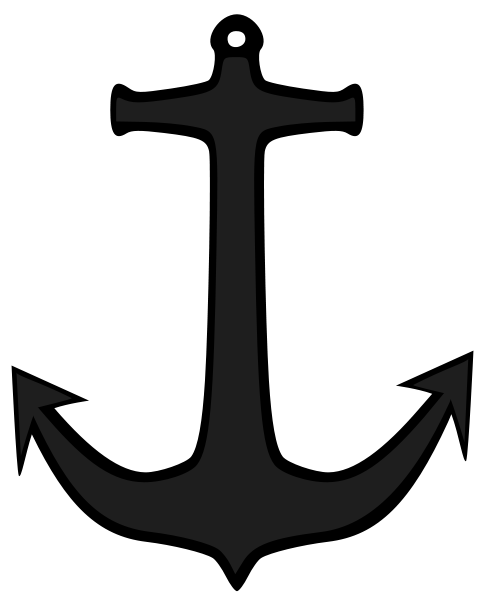 Simple Anchor Clipart png free, Simple Anchor transparent png