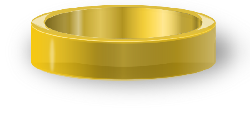 Gold Ring Clipart png free, Gold Ring transparent png