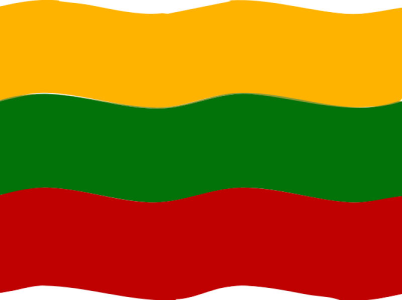 Flag Of Lithuania Clipart png free, Flag Of Lithuania transparent png