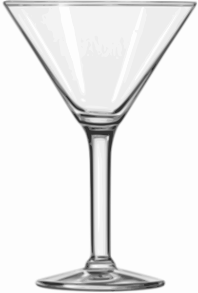 Cocktail Glass (Martini) Clipart png free, Cocktail Glass (Martini) transparent png