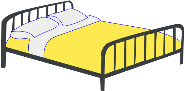 Double Bed Clipart png free, Double Bed transparent png