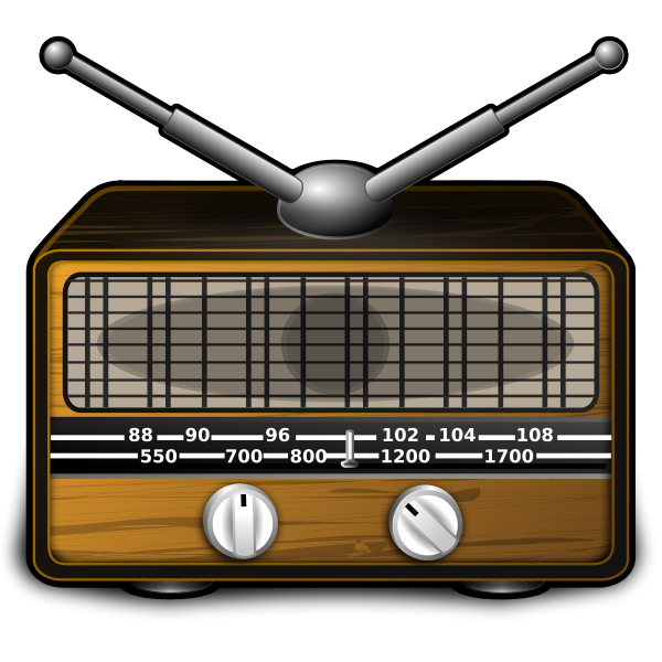 Old Radio Clipart png free, Old Radio transparent png