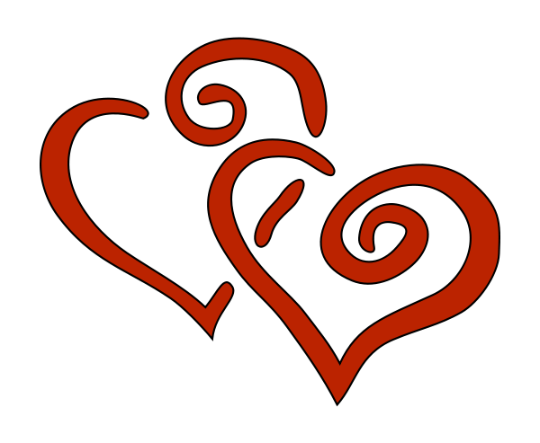2 Hearts Clipart png free, 2 Hearts transparent png