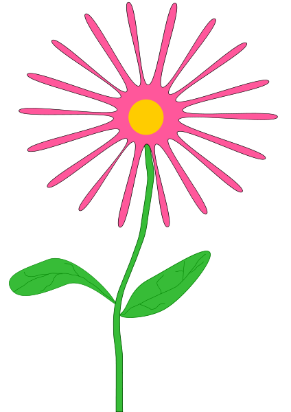Whimsical Pink Flower Clipart png free, Whimsical Pink Flower transparent png