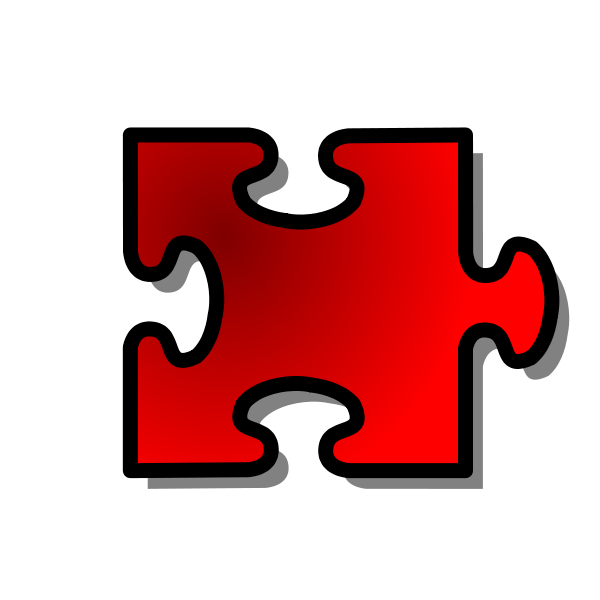 Red Jigsaw Piece 14 Clipart png free, Red Jigsaw Piece 14 transparent png