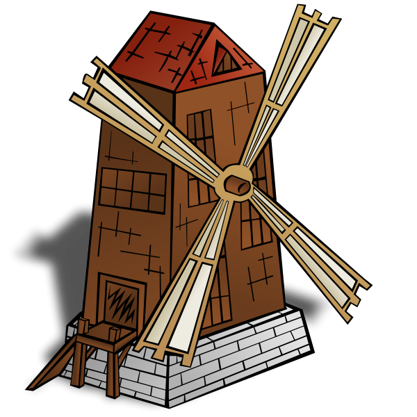Rpg Map Symbols: Windmill Clipart png free, Rpg Map Symbols: Windmill transparent png