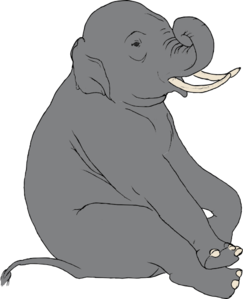 Sitting Elephant Clipart png free, Sitting Elephant transparent png