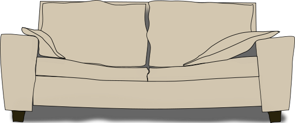 The Couch Clipart png free, The Couch transparent png