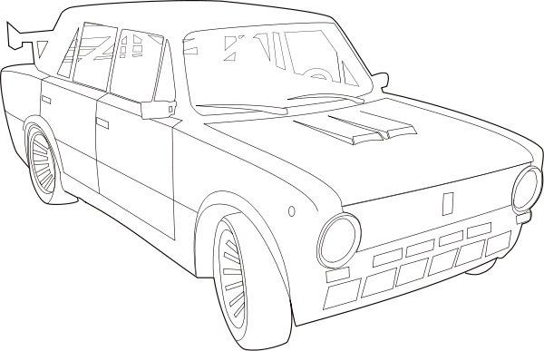 Tuned Lada Vaz 2101 Clipart png free, Tuned Lada Vaz 2101 transparent png