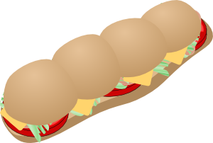 Submarine Sandwich Clipart png free, Submarine Sandwich transparent png