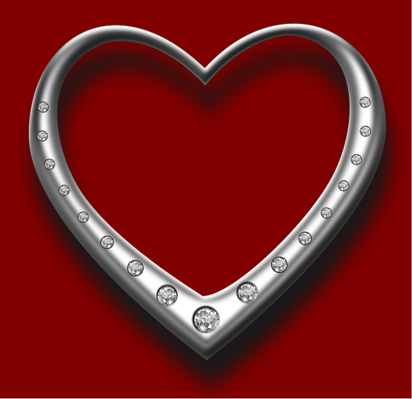 Heart With Diamonds Clipart png free, Heart With Diamonds transparent png