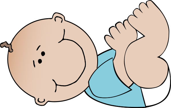 Baby Boy Lying Clipart png free, Baby Boy Lying transparent png