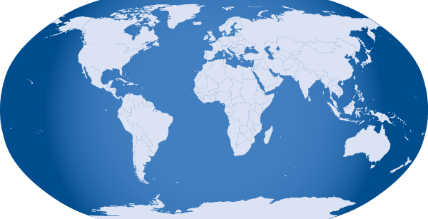 Blue World Map Clipart png free, Blue World Map transparent png