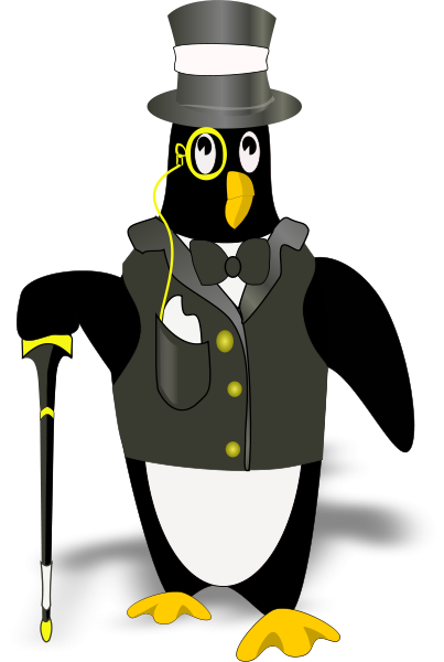 Penguin In Tux(Bordered Correctly) Clipart png free, Penguin In Tux(Bordered Correctly) transparent png