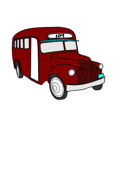 Bus Clipart png free, Bus transparent png