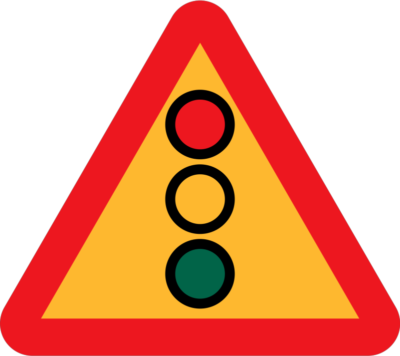 Traffic Lights Ahead Sign Clipart png free, Traffic Lights Ahead Sign transparent png