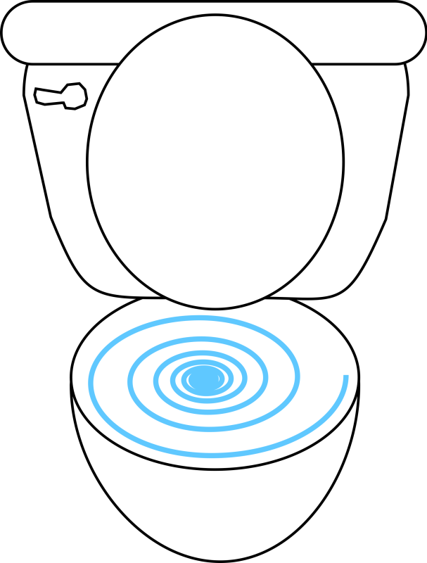 Swirly Toilet Clipart png free, Swirly Toilet transparent png