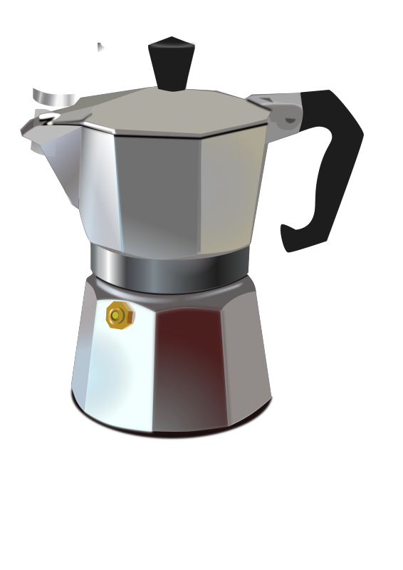Italian Coffee Maker Clipart png free, Italian Coffee Maker transparent png
