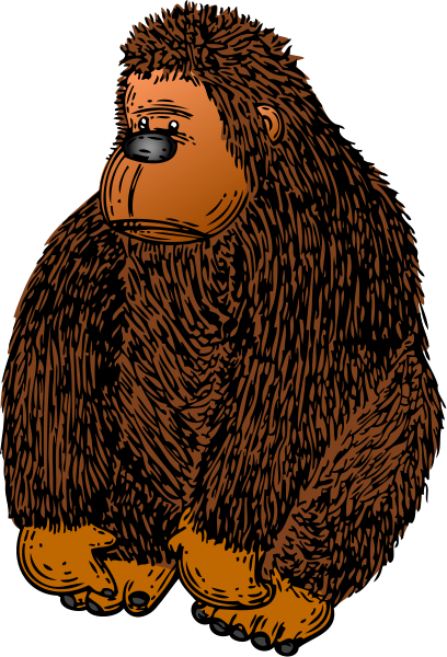 Gorilla With Colour Clipart png free, Gorilla With Colour transparent png