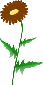 Brown Daisy Clipart png free, Brown Daisy transparent png