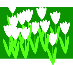 White Cartoon Tulips Clipart png free, White Cartoon Tulips transparent png