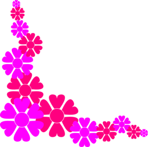 Flower Border For Girls Clipart png free, Flower Border For Girls transparent png