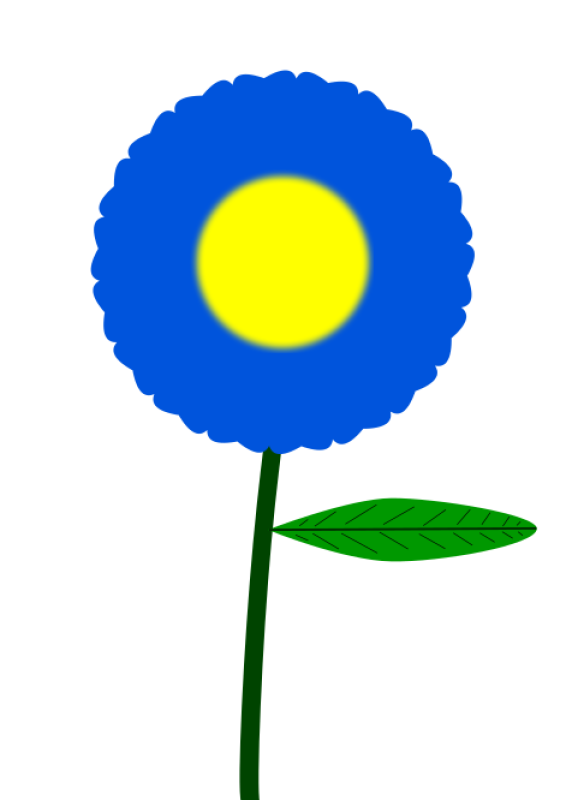 Blue Flower Clipart png free, Blue Flower transparent png