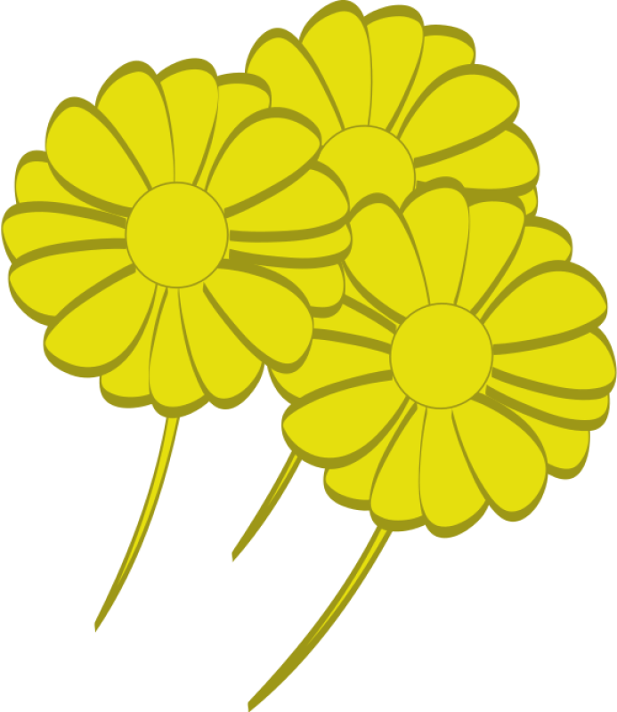 Yellow Flower Clipart png free, Yellow Flower transparent png