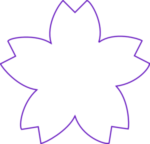 Flower Shape Purple Clipart png free, Flower Shape Purple transparent png