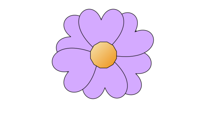 Simple Flower Clipart png free, Simple Flower transparent png