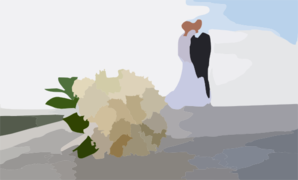 Bride And Groom With Flowers Powerpoint Backgrounds Clipart png free, Bride And Groom With Flowers Powerpoint Backgrounds transparent png