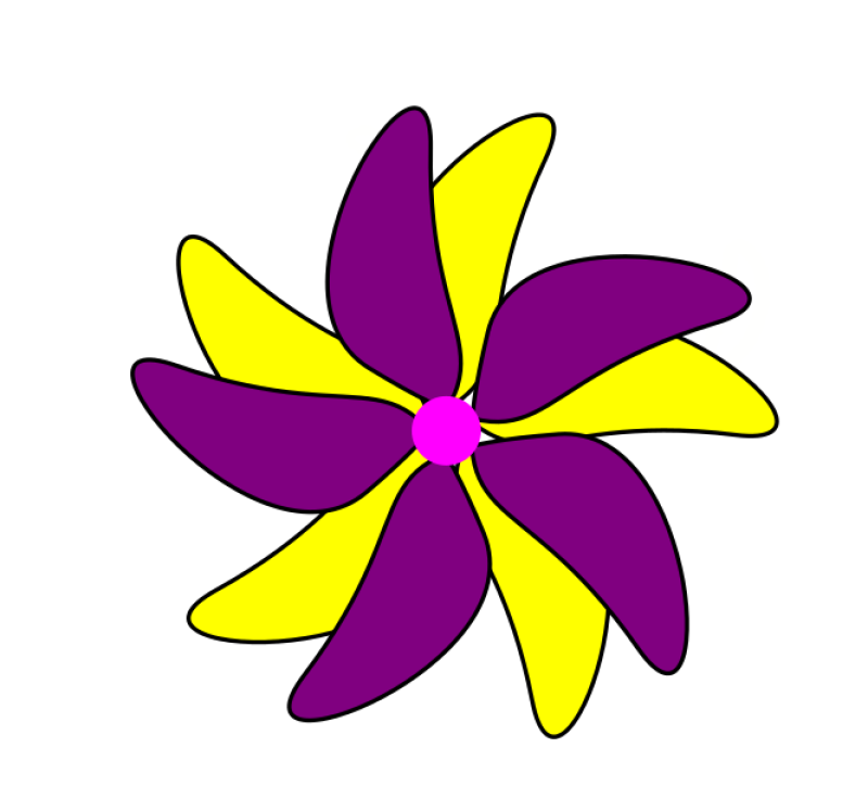 Purple Flower Clipart png free, Purple Flower transparent png