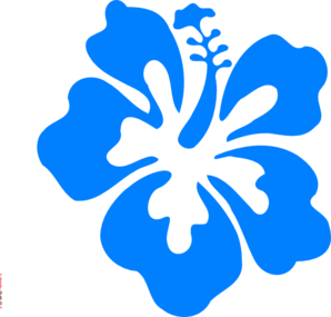 Blue Hibiscus Clipart png free, Blue Hibiscus transparent png