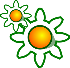 Flower Gears Clipart png free, Flower Gears transparent png