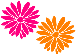 Orange And Pink Flowers Clipart png free, Orange And Pink Flowers transparent png