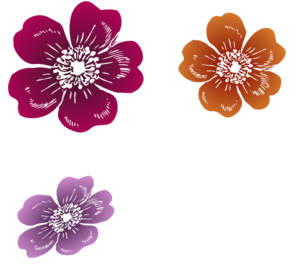 Three Wild Roses Clipart png free, Three Wild Roses transparent png