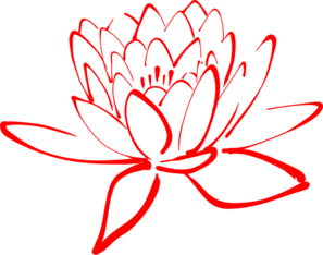 Red Lotus Clipart png free, Red Lotus transparent png