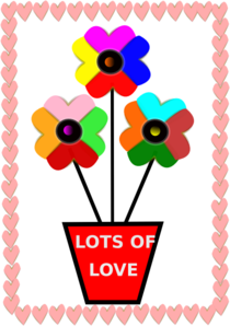 Lots Of Love Flowers Clipart png free, Lots Of Love Flowers transparent png
