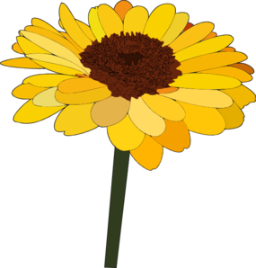 Single Sunflower Clipart png free, Single Sunflower transparent png