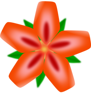 Red Flower Face Up Clipart png free, Red Flower Face Up transparent png