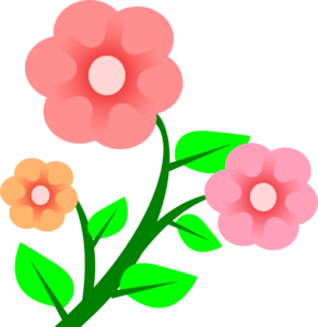 Three Basic Flowers Clipart png free, Three Basic Flowers transparent png