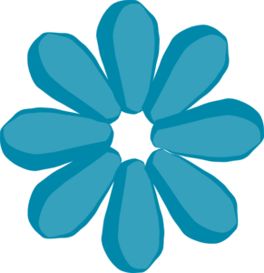 Blue Flower No Stem Clipart png free, Blue Flower No Stem transparent png